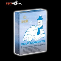 AMOR Condoms Cold Moments 3 Pack