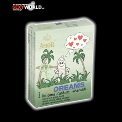 AMOR Condoms Wild Dreams 3 Pack