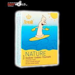 AMOR Condoms Nature 3 Pack