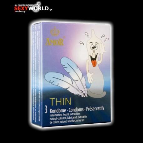 AMOR Condoms Thin 3 Pack