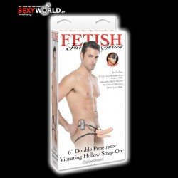 Fetish Fantasy 6 Double Penetrator Vibrating Hollow Strap-On