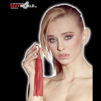 Mini Leather Whip Red