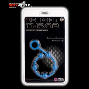Delight Throb 11 Silicone Anal Beads Blue