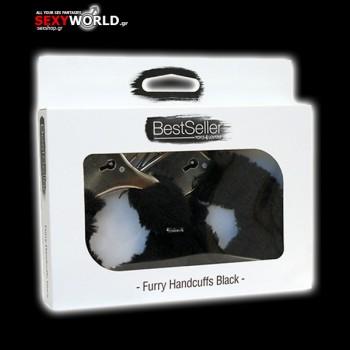 Furry Handcuffs Bestseller Black