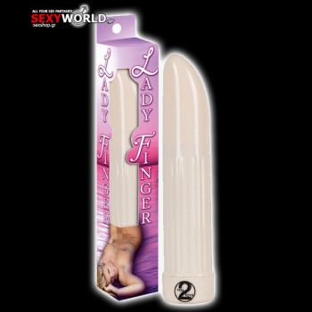 Lady Finger Vibrator White