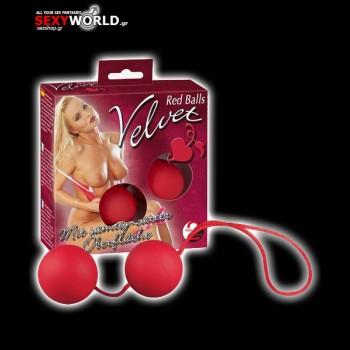 2 Velvet Red Balls