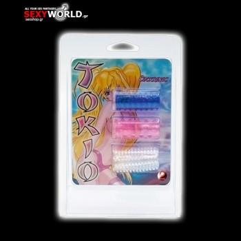 Γάντια Πέους Tokyo Sleeves Σετ 3