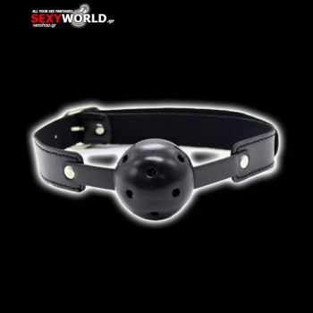 Breath Hole Ball Gag Black