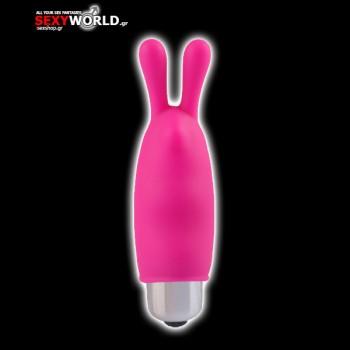 Mini Finger Vibrator Ears Pink