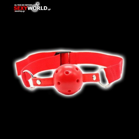 Breathable Ball Gag Red