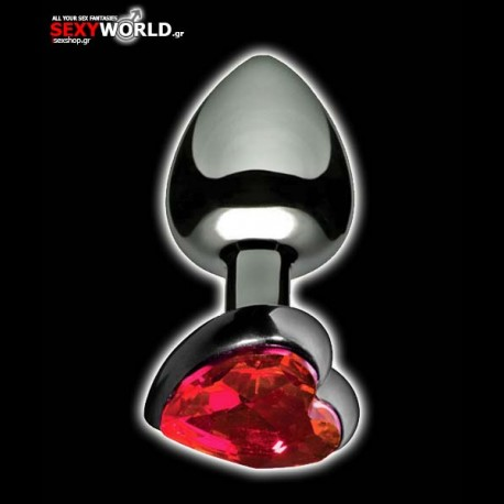 Heart Shaped Anal Plug Stainless Large