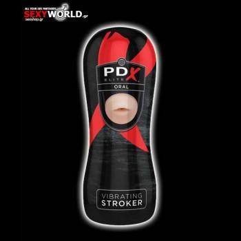 PDX Elite Vibrating Pussy Stroker