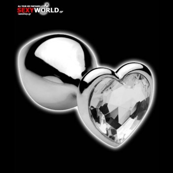Heart Shaped Anal Plug Stainless Medium