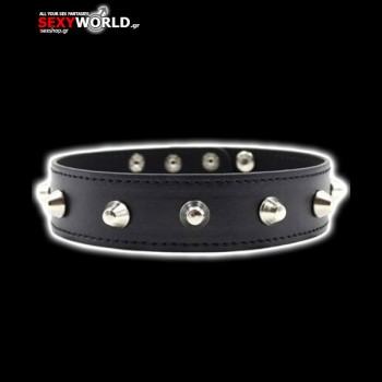 Collar Spiked Black