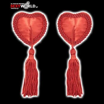Heart Nipples Tassels Red