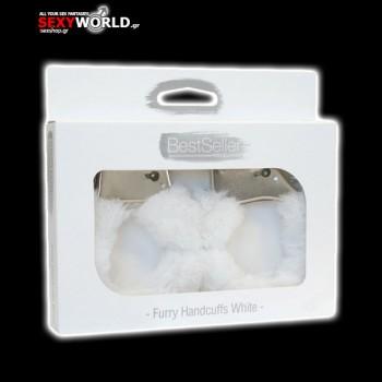Furry Handcuffs Bestseller White
