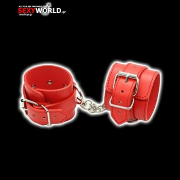 Leatherette Cuffs Belt Black