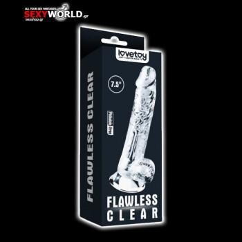 Flawless Clear Dildo 7.5