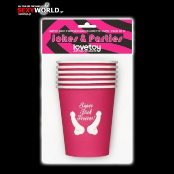 Dick Forever Bachelorette Paper Cups