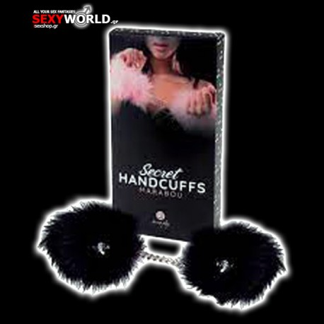 Red Marabou Handcuffs