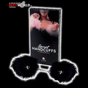 Black Marabou Handcuffs