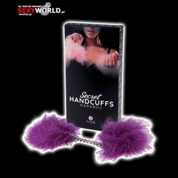 Purple Marabou Handcuffs