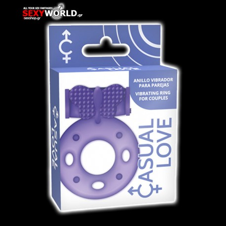 Casual Love Double Ring Purple