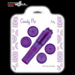 Candy Pie Pulsy Stimulator Purple