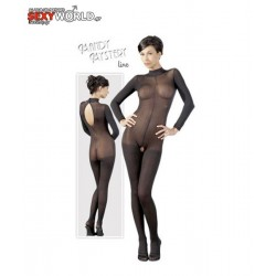 Catsuit with Lace Collar