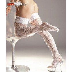 Fishnet Stockings White