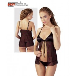 Babydoll Set With String Black