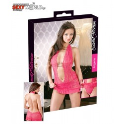 Mini Dress with String Pink